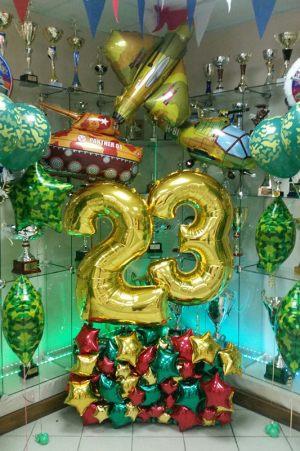 Декор шариками к 23 февраля