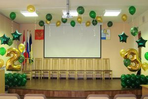 Оформление зала к 23  февраля