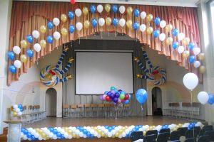 Оформление зала в школе