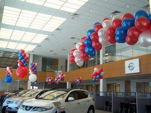 Автосалон украшение шариками
