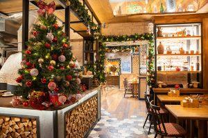 Украшение ресторана к новому году