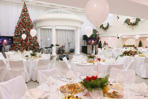 Украшение ресторана на новый год