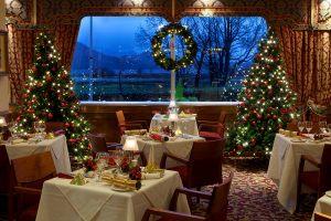 Оформление зала ресторана к новому году