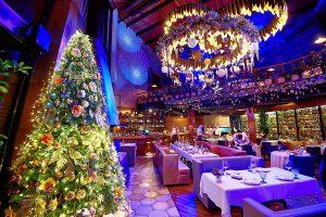 Украшение зала ресторана к новому году