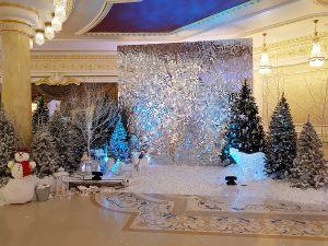 Новогодняя фотозона в оформлении зала