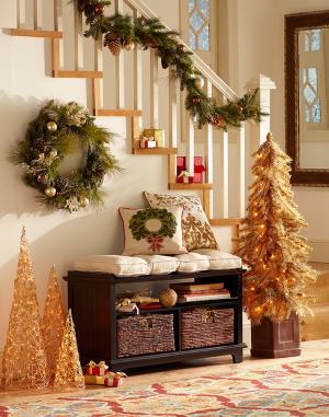 Новогодний декор частного дома