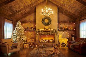 Новый год декор загородного дома