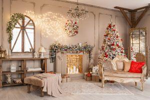 Декор загородного дома на новый год