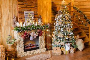 Оформление частного дома на новый год
