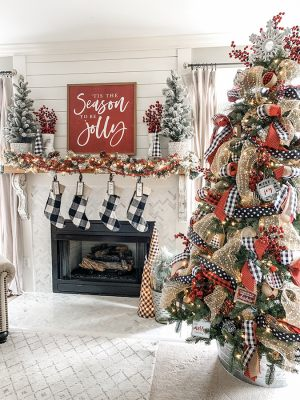 Декор частного дома к новому году