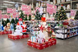 Украшение супермаркета к новому году