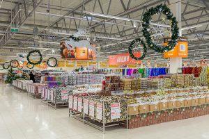 Новогодний декор супермаркета