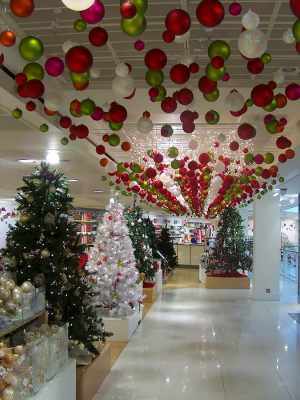 Новогоднее украшение торгового зала