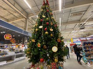 Новогоднее оформление супермаркета