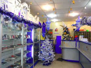 Новогоднее оформление магазина