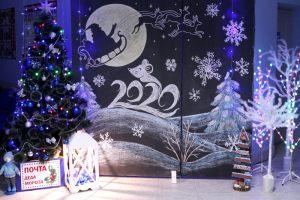 Новый год оформление школы