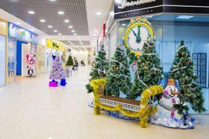 Оформление торговых центров на новый год