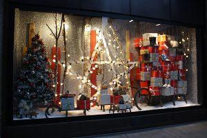 Новогодние витрины декор