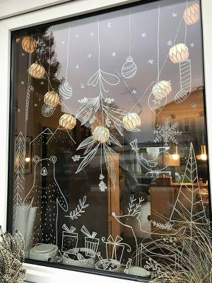 Разрисованные витрины к новому году