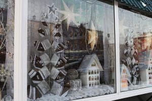 Новогодние витрины оформление