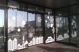 Оклейка витрин к новому году