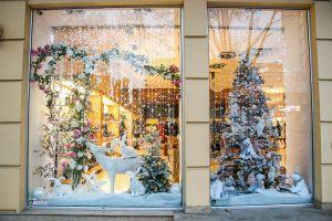 Новогодние витрины украшение