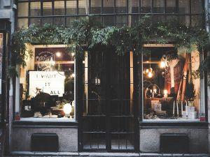 Новогодние витрины магазинов