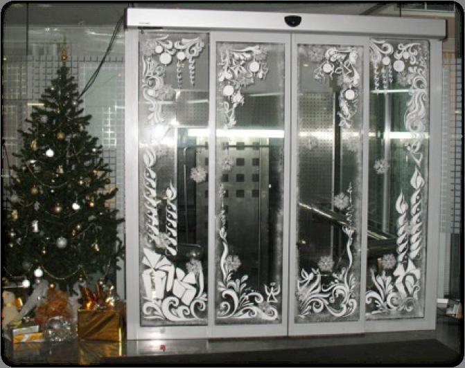 Украшение витрин к новому году своими руками