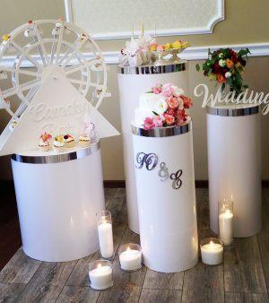 Цилиндры тумбы на свадьбу